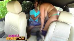 FemaleFakeTaxi (Женское Фальшивое Такси): сисястая таксистка дрочик член жеребчику