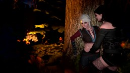 The Witcher - Ciri and Yennefer hiding their secret