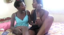 Super hot black lesbians enjoying each other in Africa