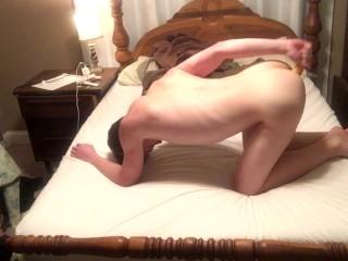 Masturbating + Eating My Big Load Of Cum