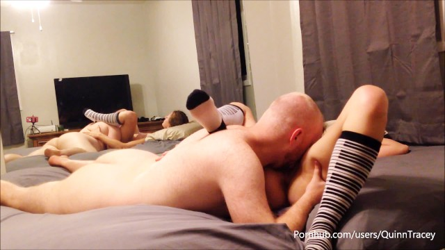 Making out leads to pussy licking orgasm--QuinnTracey 15