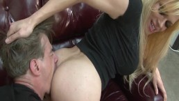TS Jessie dommes and fucks some french cock