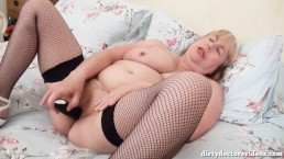 Hot Mature Trisha Playing With Her Toys on the Bed