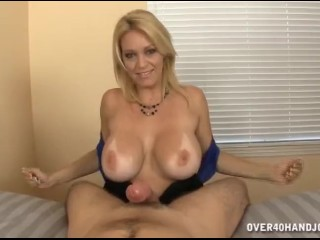 Sexy lady gives you a handjob