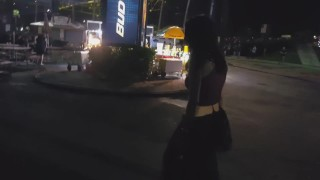 Sexy drunk amateur - public pissing, blowjob, flashing in West Palm Florida