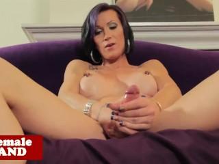 Busty alt pierced tgirl solo strip and jerk