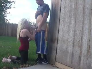 back yard blowjob – OurDirtyLilSecret