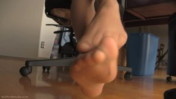 Nylon Foot domination
