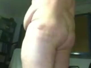 young chubby guy jerking off and slapping his tits hard and cum