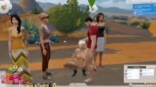 The Sims 4: Wicked Woohoo Sex MOD - Fucking The Neighbourhood. Teasing busty