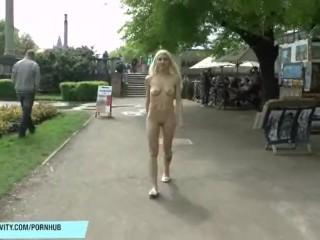 Blonde vanessa naked on public streets