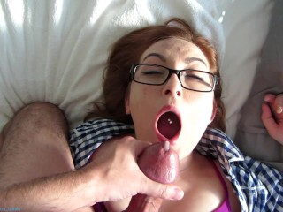 Small Cock? She Loves It! Long Passionate Blowjob From Hot Amateur