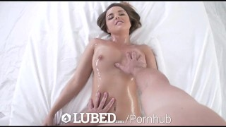 LUBED - Oiled up massage and wet pussy fuck with Dillion Harper Pink dick