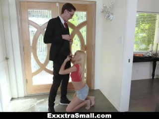 ExxxtraSmall - Tiny blondie gets conned and fucked by salesman