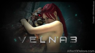 Amusteven's Velna 3 Trailer Release 9/24/16 Monster Fucks Hot Red Head