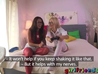 Girlfriends Lesbian gamer girls hot romance