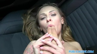 For cock russian tits petite takes publicagent with cash great public blowjob