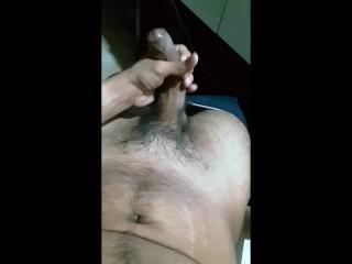 quick cum over nipples & arms