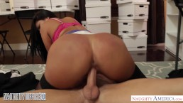 Diamond Kitty fucks her co-worker in the file room - Naughty America