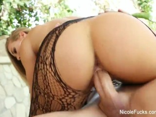 Nicole shows off her amazing body then gets a good fucking