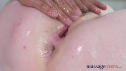 Massage Rooms Big boobs strawberry blonde rides big fat dick