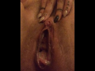 Sojourner Squeezes a Sticky Cream Pie out of Her Tight Pussy