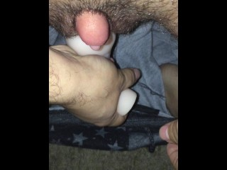 FTM Transman Fucking Fleshlight With Pumped Cock Cum Inside Pussy