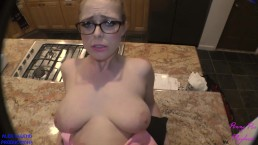 Penny Pax's Hairy Bush Gets Pounded On The Kitchen Counter!