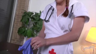 Nurse Penny Pax is at your service Orgasm stockings