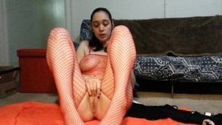Squirting in Fishnets