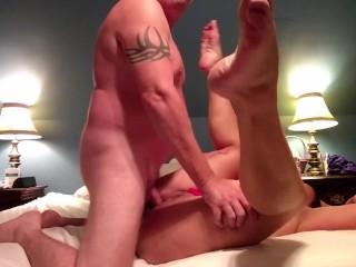 Becky Tailor twerks for her man, then fucks him!