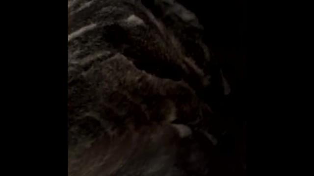 Washing my fat black pussy 1