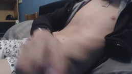 STRAIGHT TEEN JERKING ON BED AND CUMMING PART 2