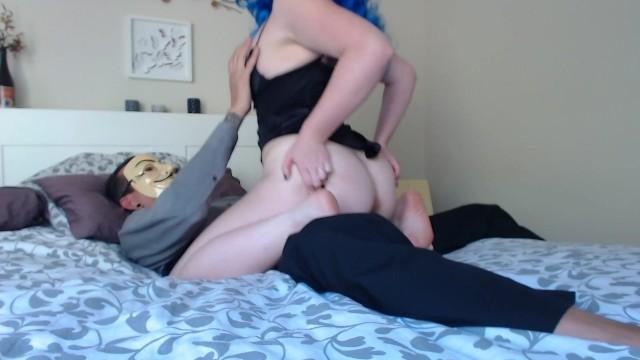 Whore fucks Little goth whore fucks anon man