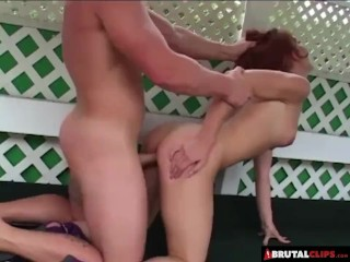 BrutalClips - She Gets Bent out of Shape While Getting Pounded