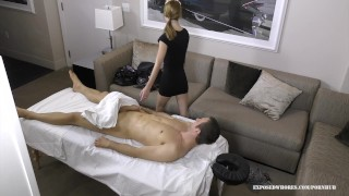 Massage Whore Lola Hunter Gets Lucky With Her Client He Has A Huge Cock