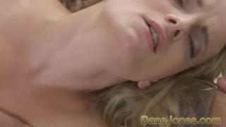 DaneJones Beautiful slim blonde worships boyfriend and his big fat cock porno