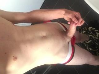 Teasing / Jerking Off In Bathroom (no cumshot)