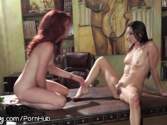 Girlsway Therapist Seduces Redhead Patient