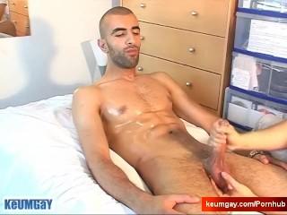 My str8 neighbour made a porn !Watch his huge cock serviced!