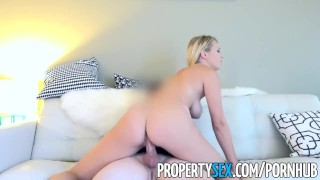 PropertySex - Polish beauty uses tight pussy on landlord to get apartment Boobs licking