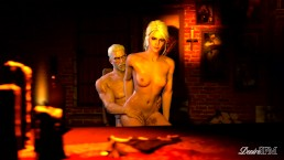 The Witcher - An Autumn Day - Geralt and Ciri