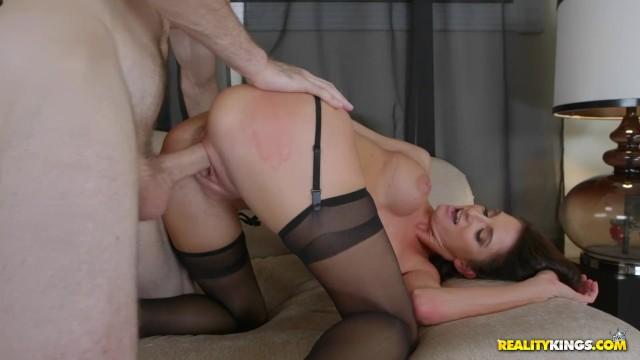 Super Hot Mom Silvia Saige Takes A Load On Her Beautiful Big Tits 10