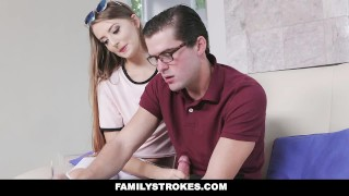 FamilyStrokes - Nerdy Step-Bro Fucked Me For Homework