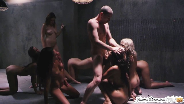 Inversion cumshot ropes James deen punishment of 9 girls in rough groupsex reverse gangbang