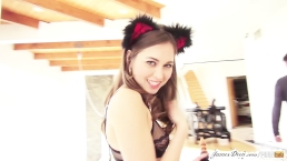 BTS of Riley Reid's Rough Anal Training Sex Tape with James Deen