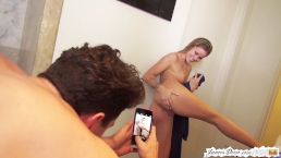 Natural blonde jessa rhodes shows off behind the scenes