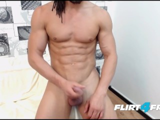 Spencer Dean Displays His Perfect Shaved Body and Big Cock