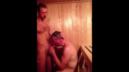 Straight Guys Sucking Dick in a Sauna