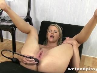 Double penetrated piss drinking super slut